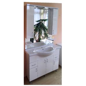 Fürdőszobabútor (szélesség: 105cm, 110.000,-Ft mosdókagylóval)